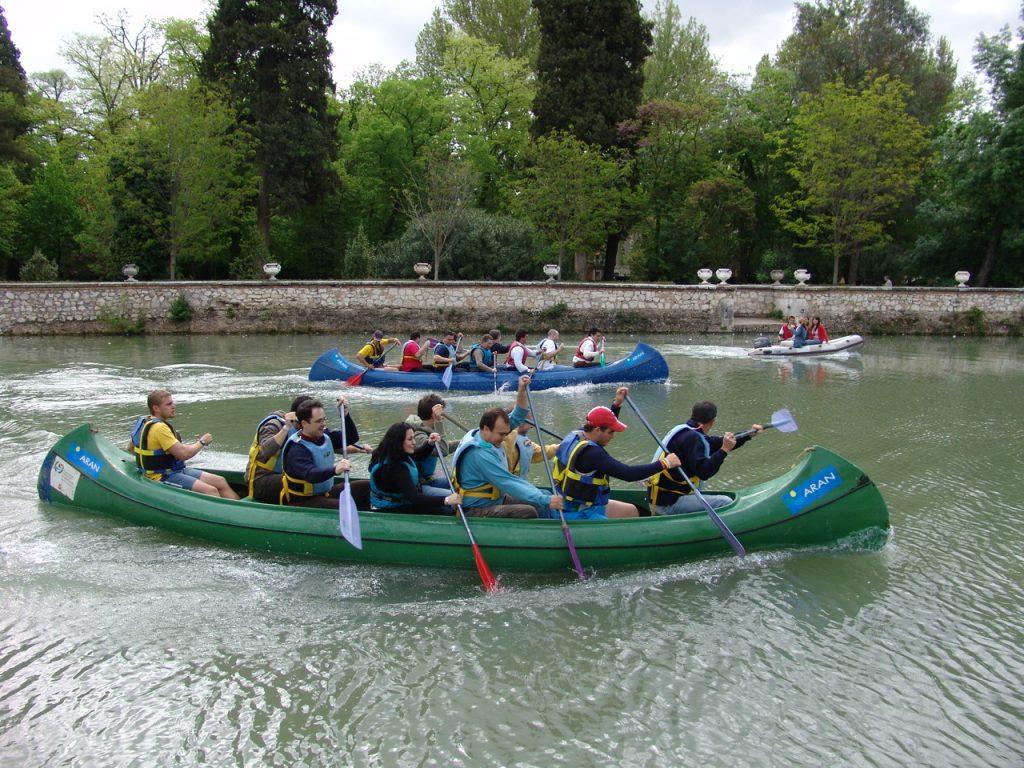 Team Building en bosques, naturaleza, ríos y jardines